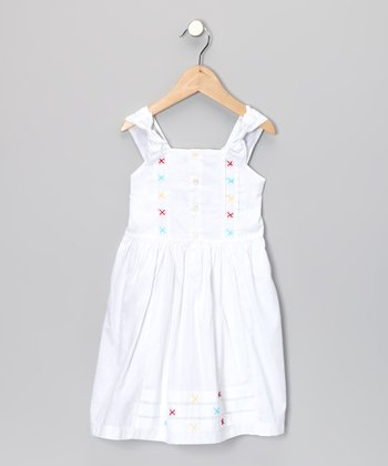 White Bow Dress - Toddler & Girls
