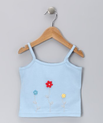 Blue Flower Doriane Tank - Toddler & Girls