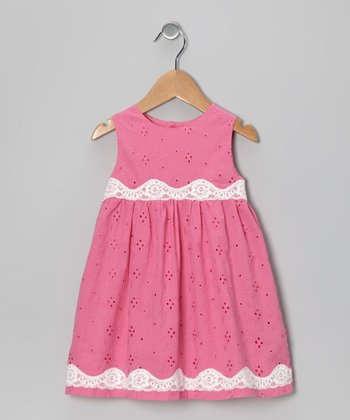 Pink Eyelet Dress - Toddler