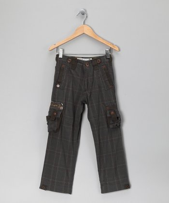 Charcoal Plaid Akron Cargo Pants - Toddler & Boys