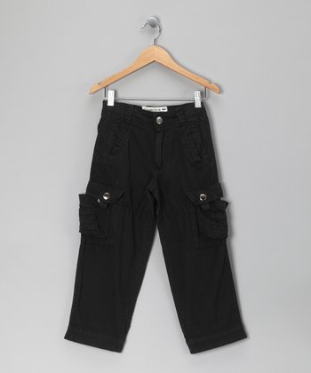 Black Andes Cargo Pants - Toddler & Boys