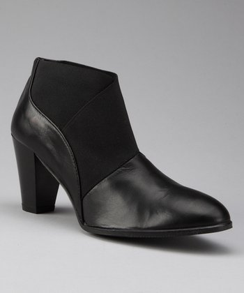 Black Leather Assa Ankle Boot