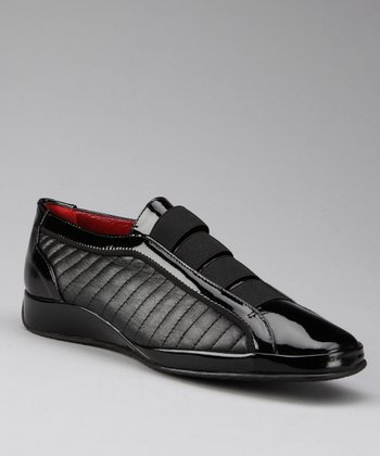 Black Leather Erice Shoe