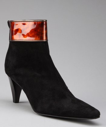 Black Suede Felma Ankle Boot