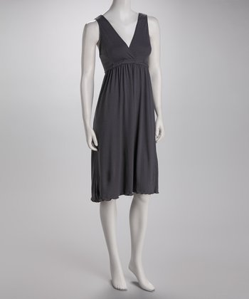 Slate Gray Signature Nursing Gown