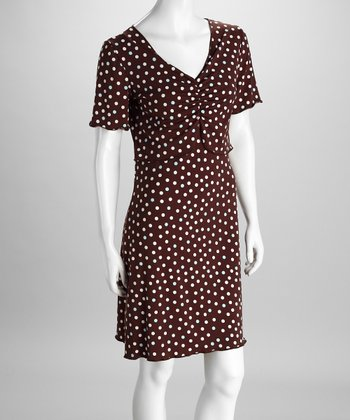 Amamante Chocolate Dot Bolero Nursing Gown