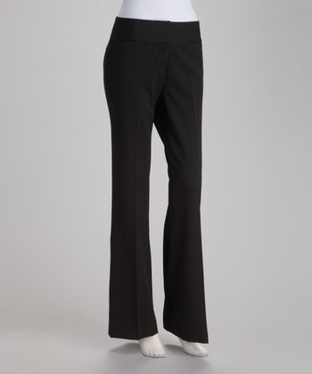 Atelier Luxe Black Wide-Leg Pants