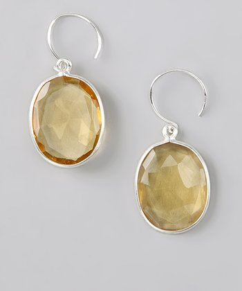 Amelia Rose Sterling Silver & Daisy Yellow Cabo Drop Earrings