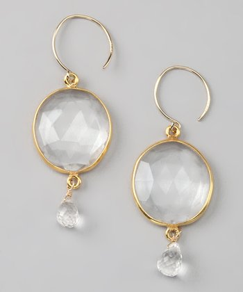 Clear & Gold Cabo Gem Drop Earrings