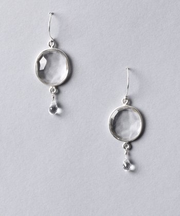 Clear & Sterling Silver Cabo Gem Drop Earrings
