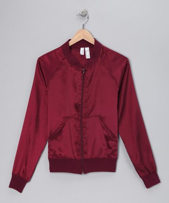 Burgundy Satin Charmeuse Jacket