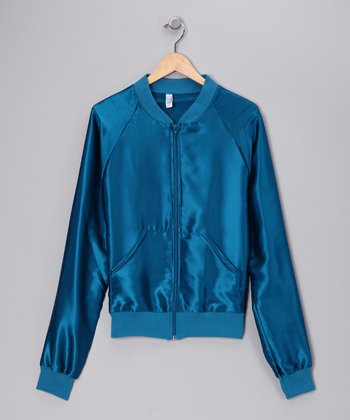 Peacock Satin Charmeuse Jacket