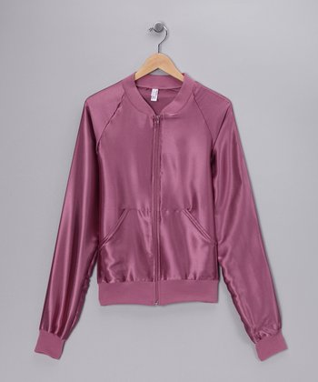 Rose Satin Charmeuse Jacket
