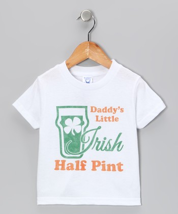 White Irish Half Pint Tee - Toddler & Kids