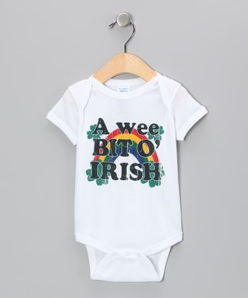 White Wee Bit O' Irish Bodysuit - Infant