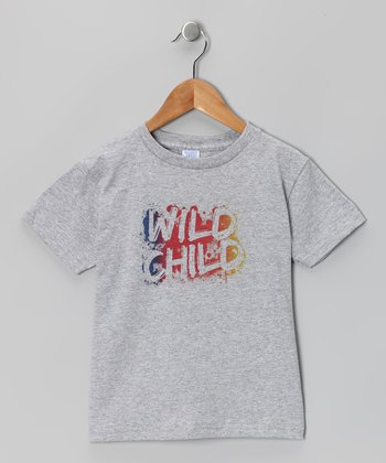 Heather Gray 'Wild Child' Tee - Toddler & Kids