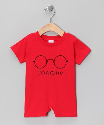 Red 'Imagine' Romper - Infant