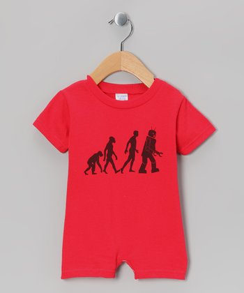 Red Robot Evolution Romper - Infant