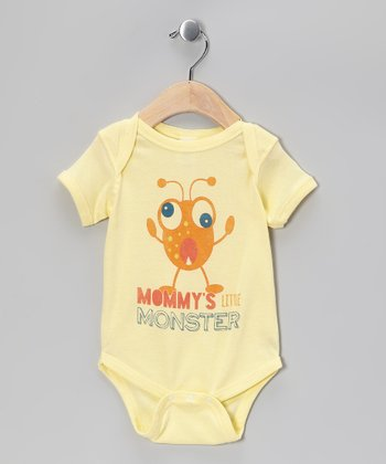 Banana 'Mommy's Little Monster' Bodysuit - Infant