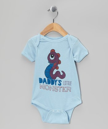 Light Blue 'Daddy's Little Monster' Bodysuit - Infant