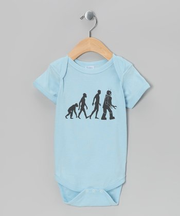 Light Blue Robot Evolution Bodysuit - Infant