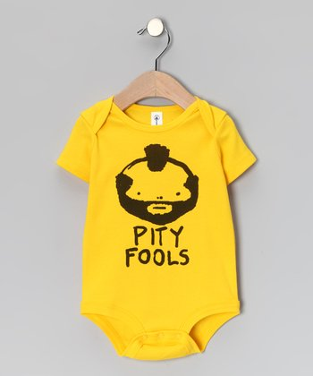 Yellow 'Pity Fools' Bodysuit - Infant