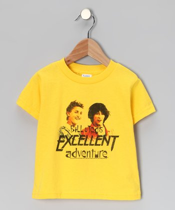 Yellow 'Bill & Ted's Excellent Adventure' Tee - Toddler & Kids