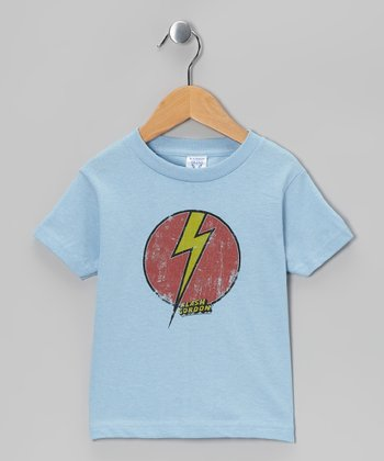 Light Blue Flash Bolt Tee - Toddler & Kids