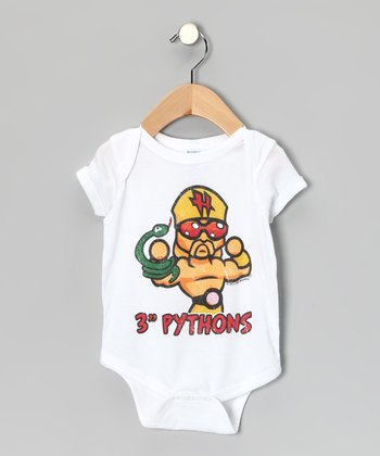 White '3'' Pythons' Bodysuit - Infant