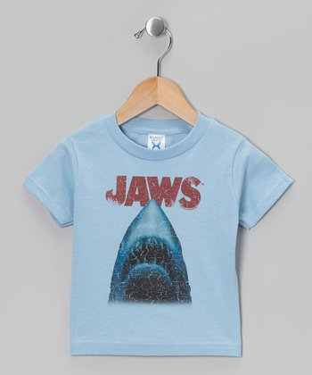 Light Blue 'Jaws' Tee - Toddler & Kids