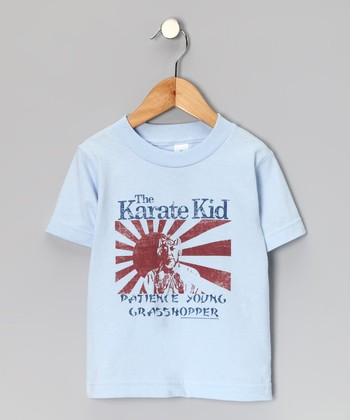Light Blue 'Patience Young Grasshopper' Tee - Toddler & Kids