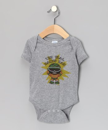 Athletic Heather 'The Real Macho Man' Bodysuit - Infant