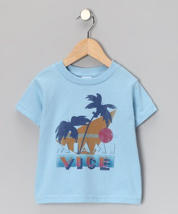 Light Blue 'Miami Vice' Tee - Toddler & Kids