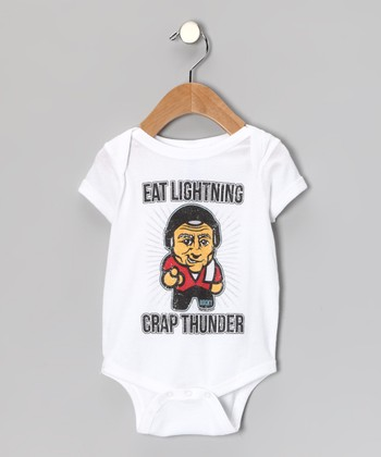 White 'Eat Lightning, Crap Thunder' Bodysuit - Infant
