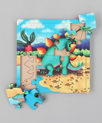 American Educational Products Stegosaurus Layer Wooden Puzzle