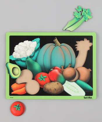 American Educational Products Advanced Vegetables Wooden Puzzle