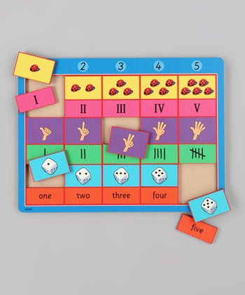 American Educational Products Counting One to Five Wooden Puzzle