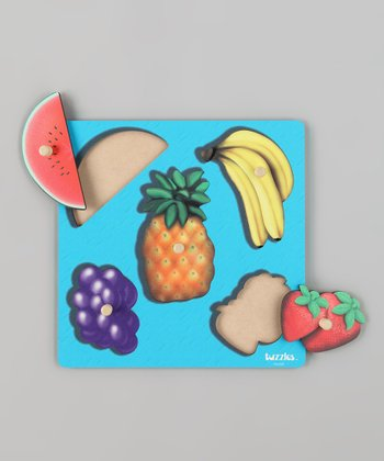 American Educational Products Fruit Wooden Knob Puzzle