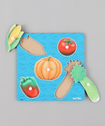 American Educational Products Vegetables Wooden Knob Puzzle