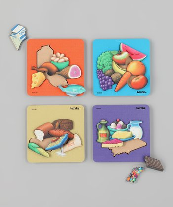 American Educational Products Good Food Wooden Puzzles Set