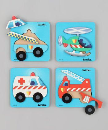 American Educational Products Emergency Vehicles Puzzles Set