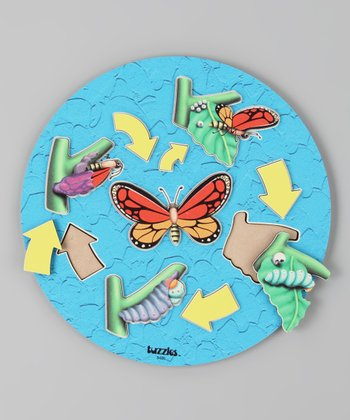 American Educational Products Butterfly Life Cycle Wooden Puzzle
