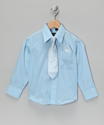 American Exchange Blue Shirt Set - Infant, Toddler & Boys