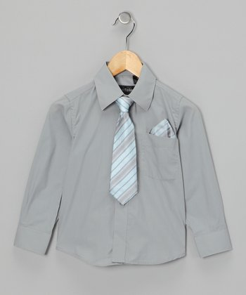 American Exchange Gray Shirt Set - Infant, Toddler & Boys