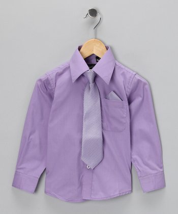 American Exchange Lilac Shirt Set - Infant, Toddler & Boys