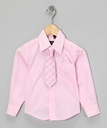 American Exchange Pink Shirt Set - Infant, Toddler & Boys