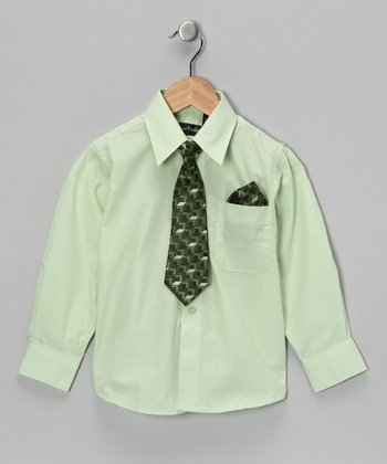 American Exchange Lime Shirt Set - Infant, Toddler & Boys