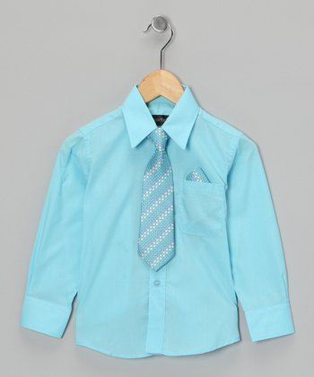 American Exchange Turquoise Shirt Set - Infant, Toddler & Boys