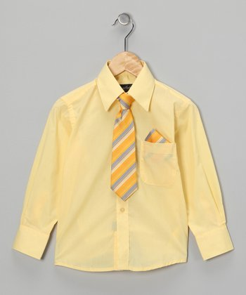 American Exchange Yellow Shirt Set - Infant, Toddler & Boys