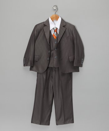 Gray Pinstripe Suit Set - Infant